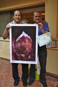 Το βραβείο του 3ου νικητή παρέλαβε ο πατέρας του Μανώλη Θράβαλου που βρέθηκε ειδικά για την εκδήλωση